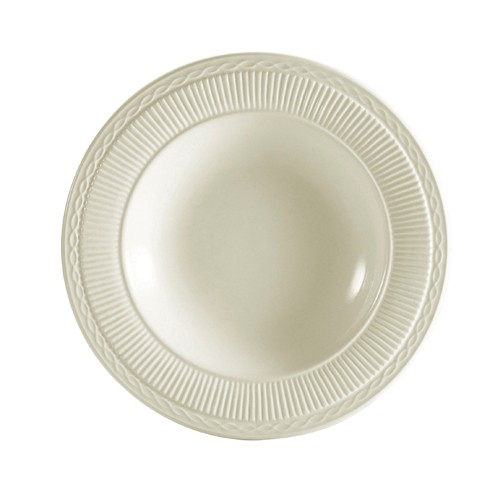 CAC China RID-3 Ridgemont American White Rim Soup Plate 10.75  oz.  - 2 doz