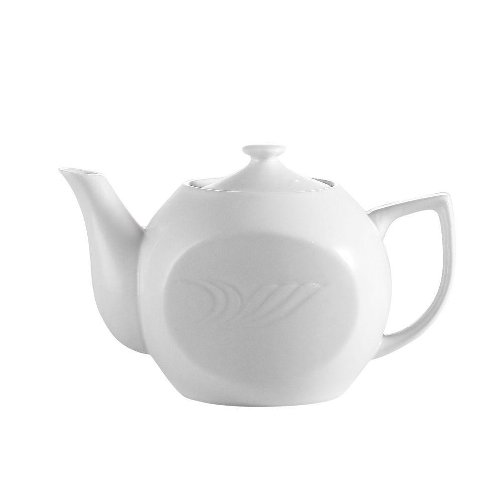 CAC China RSV-TP Roosevelt Porcelain Tea Pot 15 oz. - 3 doz