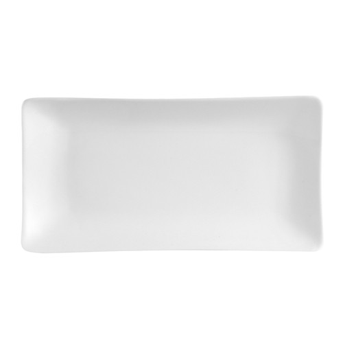 "CAC China SHA-12 Sushia Porcelain Rectangular Platter 10"" x 5-1/4"" - 2 doz"