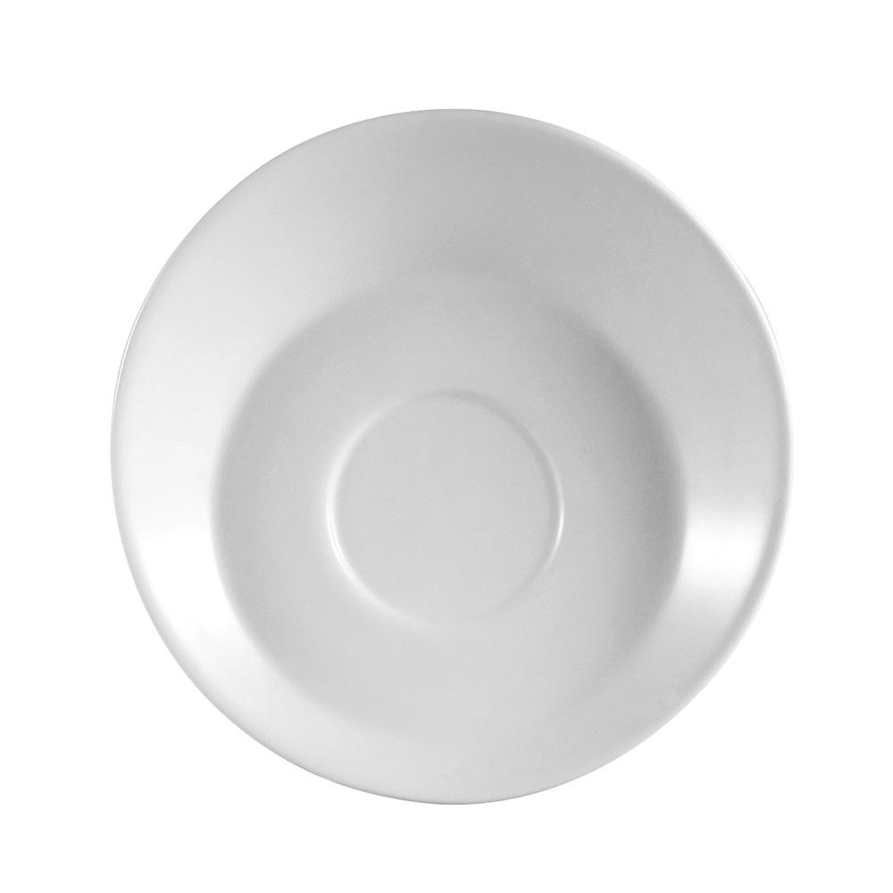 "CAC China SHER-36  Sheer Bone White Porcelain Saucer for A.D. Cup 4-1/2""- 3 doz"