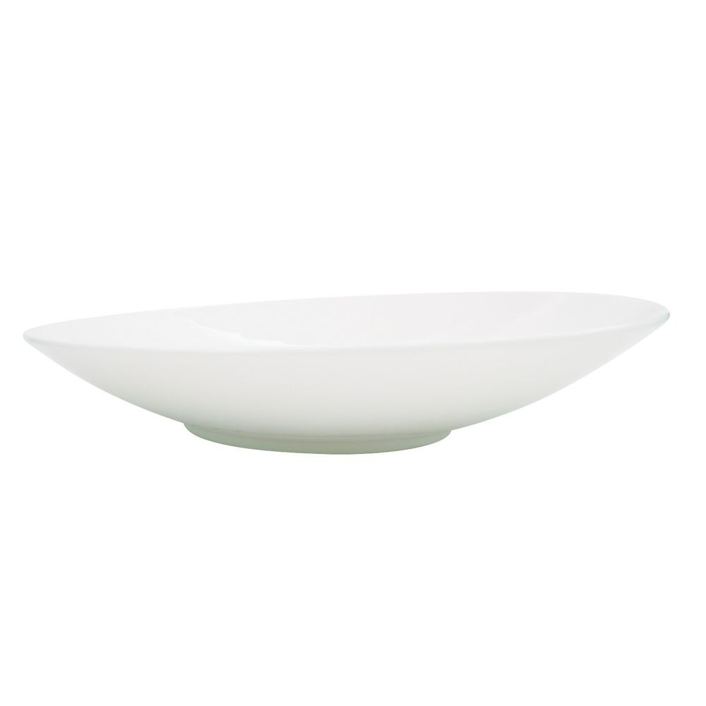 "CAC China SHER-7 Sheer Bone White Porcelain Plate 8"" - 3 doz"