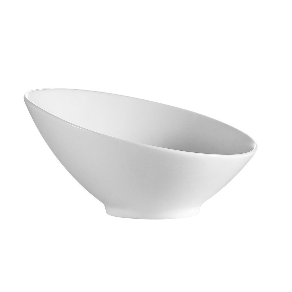 CAC China SHER-B6 Sheer Bone White Porcelain Salad Bowl 8 oz. - 3 doz