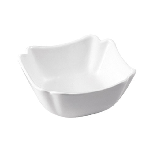 CAC China SLB-7 Specialty Porcelain Square Salad Bowl 24 oz. - 2 doz