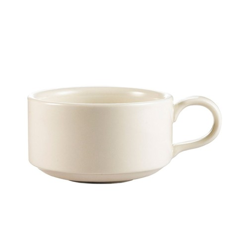 CAC China SMG-13 American White Stacking Mug 13 oz.- 3 doz