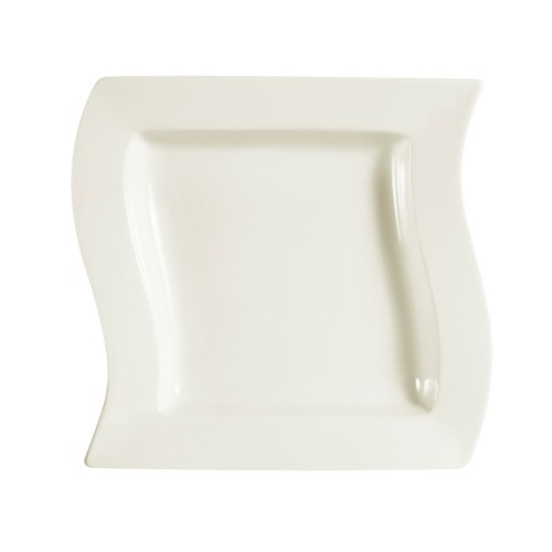 CAC China SOH-120 Soho American White Stoneware Square Pasta Bowl 24 oz. - 1 doz