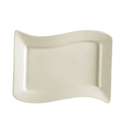CAC China SOH-125 Soho American White Stoneware Rectangular Pasta Bowl 22 oz. - 1 doz