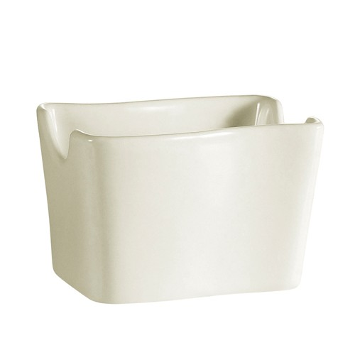 CAC China SOH-HSP Soho American White Stoneware Sugar Packet Holder - 3 doz