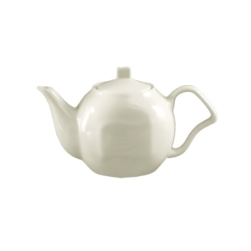 CAC China SOH-TP Soho American White Stoneware Tea Pot 15 oz. - 2 doz