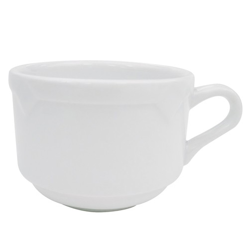 CAC China TMS-1 Times Square Porcelain Stackable Cup 8 oz. - 3 doz