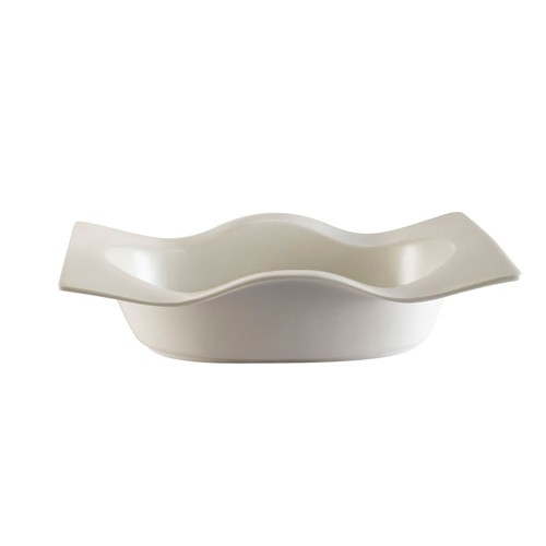 CAC China WB-10 Fashionware Wavy Edge Rectangular Bowl 22 oz. - 1 doz