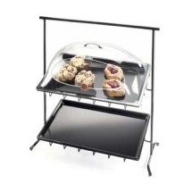 Cal-Mil 1006 2-Tier Black Sloped Iron Display Stand