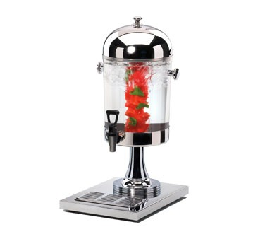 Cal-Mil 1010INF Stainless Steel Acrylic Beverage Dispenser With Infusion Chamber 2 Gallon