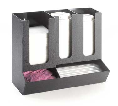 Cal-Mil 1013 Classic Black Straw and Lid Organizer
