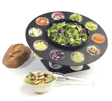 Cal-Mil 1014 Revolving Salad Server With Bowl and 10 Cups