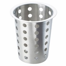 Cal-Mil 1017-39 Perforated Stainless Steel Flatware Cylinder