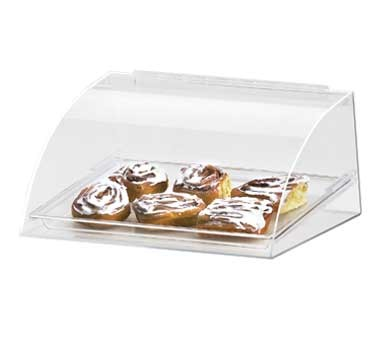 "Cal-Mil 1019 Euro Style Curved Front Bakery Display Case 15-1/2"" x 12"" x 7"""