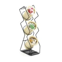 Cal-Mil 1025-3-13 Black 3-Hole Space Save Wire Silverware Display
