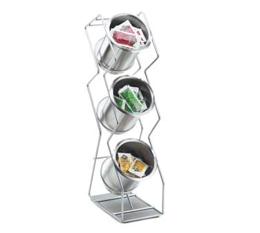 Cal-Mil 1025-3S Space-Saver 3-Hole Vertical Condiment Organizer