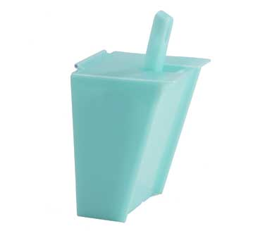 Cal-Mil 1033-6 Blue Econo Scoop Holder With Scoop and Drip Tray 6 oz.