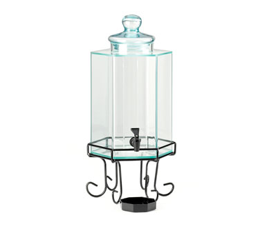 Cal-Mil 1111 2 Gallon Octagon Glass Beverage Dispenser