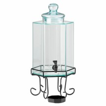 Cal-Mil 1111A 2 Gallon Plexiglass Octagon Beverage Dispenser