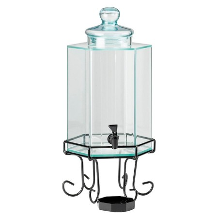 Cal-Mil 1111A Octagon Iron Acrylic Beverage Dispenser 2 Gallon