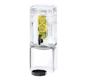 Cal-Mil 1112-3AINF 3 Gallon Square Acrylic Beverage Dispenser