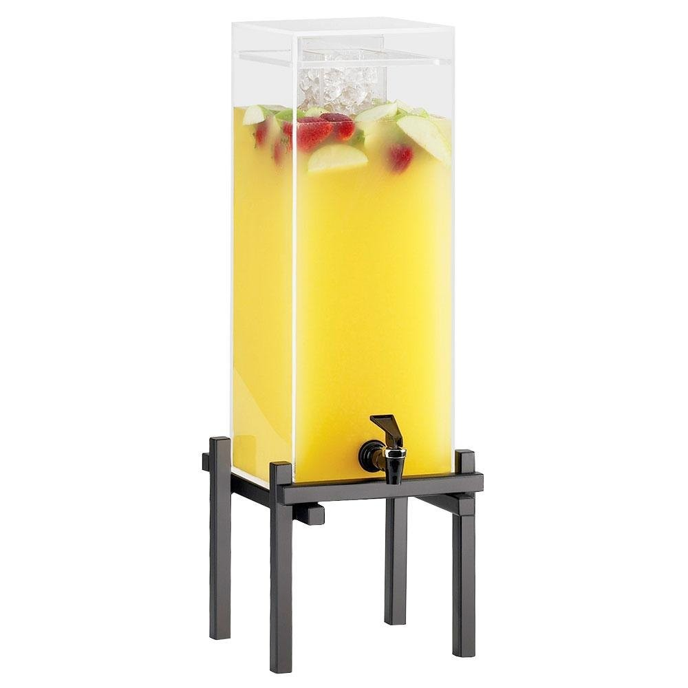 Cal-Mil 1132-1-13 1.5 Gallon Black One By One Beverage Dispenser