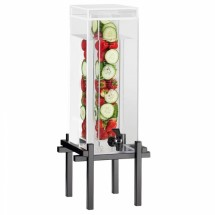Cal-Mil 1132-1INF-13 1.5 Gallon Black One By One Beverage Dispenser With Infusion