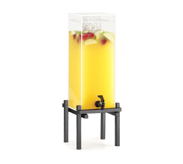 Cal-Mil 1132-3-13 3 Gallon Black One By One Beverage Dispenser