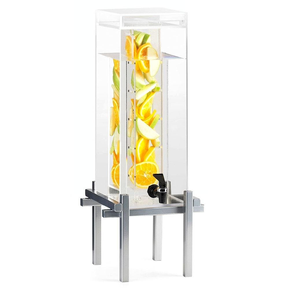 Cal-Mil 1132-5INF-74 5 Gallon Silver One By One Beverage Dispenser With Infusion Core