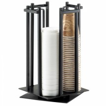 Cal-Mil 1133-13 Black One By One Revolving Cup / Lid Organizers