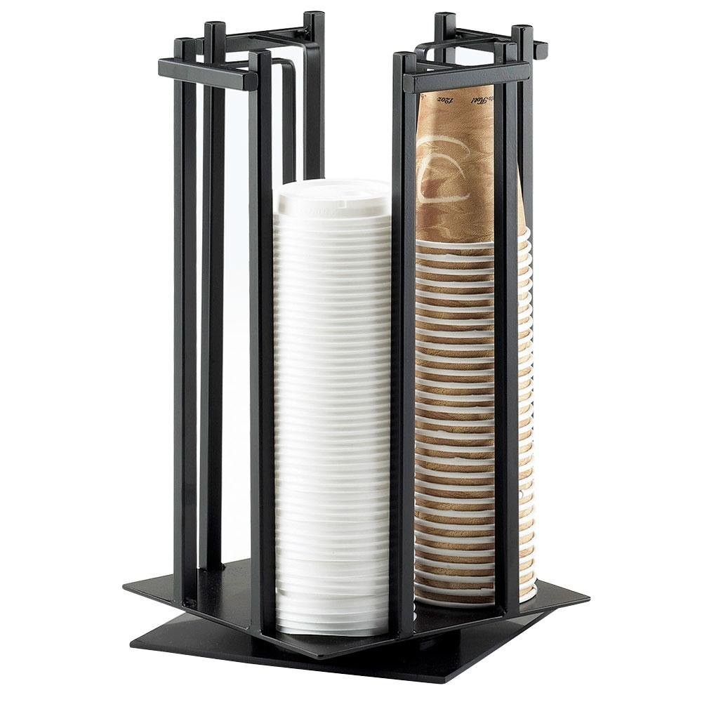 Cal-Mil 1133-13 Black One By One Revolving Cup / Lid Organizer