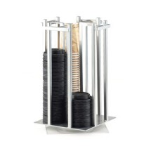 Cal-Mil 1133-74 Silver One By One Revolving Cup / Lid Organizer