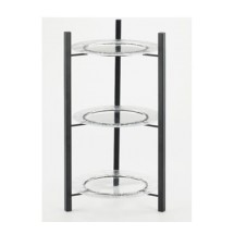 Cal-Mil 1136-10-13 Black One By One 3-Tiered Plate Display