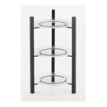 Cal-Mil 1136-8-13 Black One By One 3-Tiered Plate Display