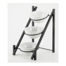"Cal-Mil 1137-8-13 Black One By One 3-Tiered Bowl Display Frame 11-3/4"" x 15-3/4"" x 18-1/2"""