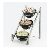 "Cal-Mil 1137-8-74 Silver One By One 3-Tiered Bowl Display Frame 11-3/4"" x 15-3/4"" x 18-1/2"""