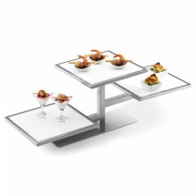 Cal-Mil 1140-74 Silver One By One Square 3-Tiered Riser Frame