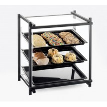 Cal-Mil 1143-13 Black One By One Attendant Serve Pastry Display Case
