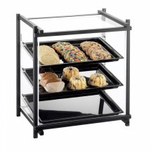 Cal-Mil 1143-74 Silver One By One Attendant Serve Pastry Display Case