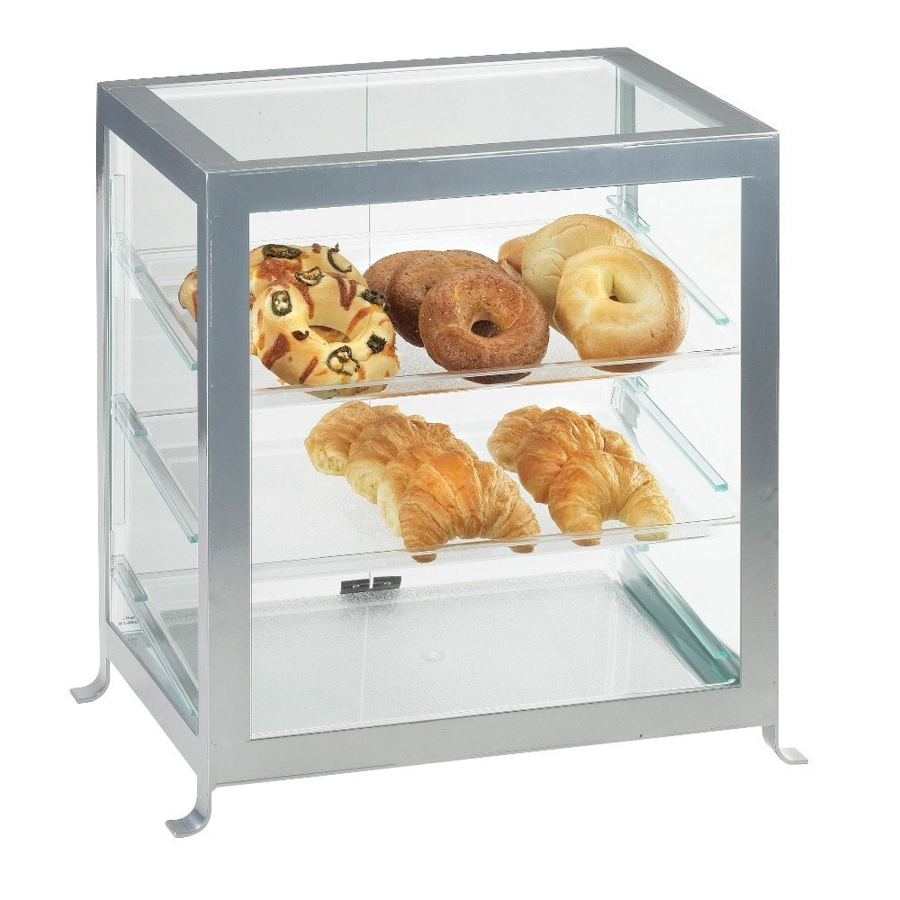 Cal-Mil 1145-13 Black One By One Attendant Serve Pastry Display Case