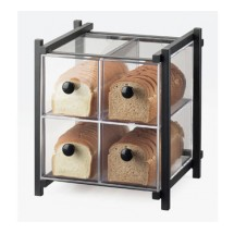 Cal-Mil 1146-13 Black One by One Four-Drawer Bread Case, 14