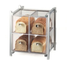 "Cal-Mil 1146-74 Silver One by One Four Drawer Bread Display Case 14"" x 14-3/4"" x 15-3/4"""
