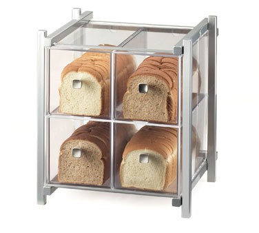 """Cal-Mil 1146-74 Silver One by One Four Drawer Bread Display Case 14"""" x 14-3/4"""" x 15-3/4"""""""