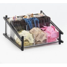 Cal-Mil 1148-13 Black One by One Condiment Organizer - 13