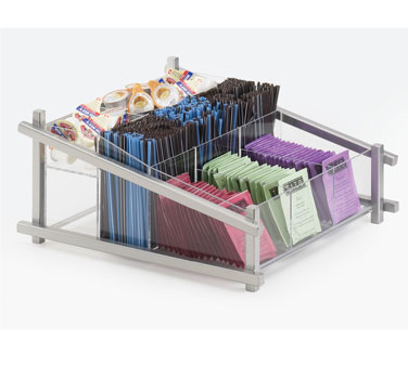 Cal-Mil 1148-74 Silver One by One Condiment Organizer - 13