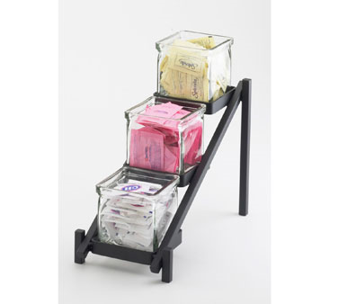 Cal-Mil 1149-13 Black 3 Tier Jar Display - 6-1/4