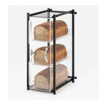 Cal-Mil 1155-13 Black One by One Three-Tier Bread Case, 9 1/2