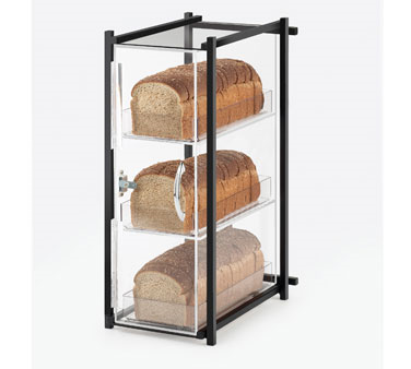 Cal-Mil 1155-13 Black One by One Three Tier Bread Display Case 9-1/2 x 14-1/2 x 19-3/4